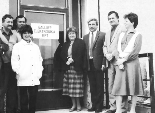 Gründungsmannschaft von Balluff-Elektronika Kft